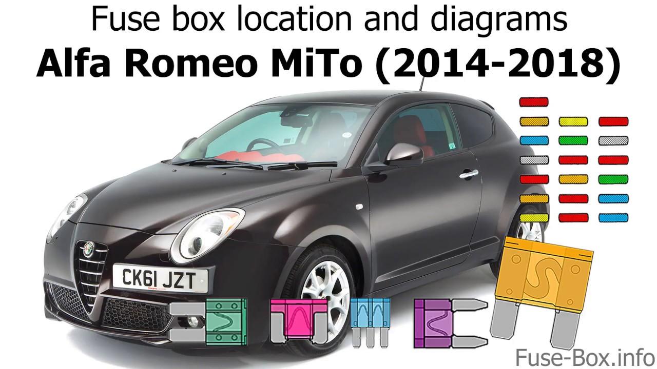 fuse box location and diagrams alfa romeo mito 2014 2018  [ 1280 x 720 Pixel ]