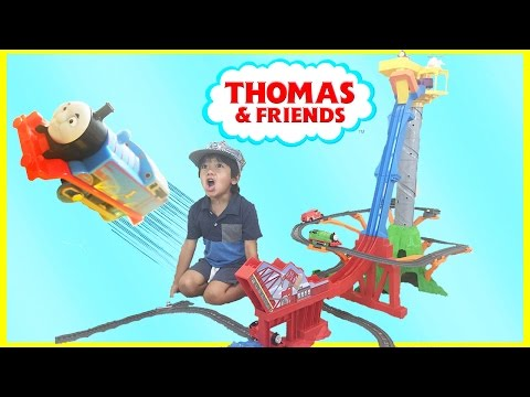 Download Youtube: Thomas & Friends TrackMaster Sky-High Bridge Jump Playset Toy Trains for Kids Ryan ToysReview