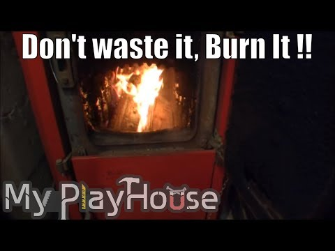Utilizing garden waste, for heating House Part1 - 018
