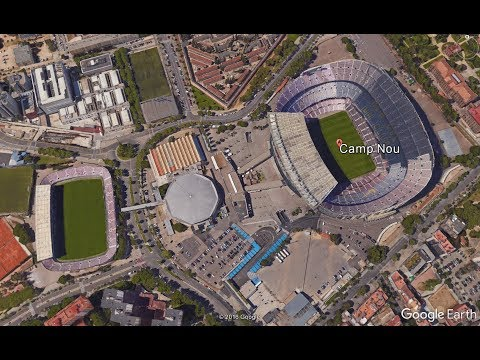 MADRID to BARCELONA - Full flight simulated in Google Earth