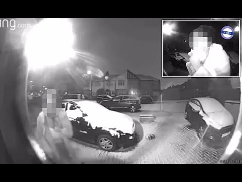 Woman is caught on CCTV trying to con her way into house