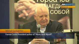 "Mikhail Gorbachev Presents His New Book ""Alone With Myself"""