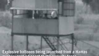 Hamas Terrorism - Balloon bomb's