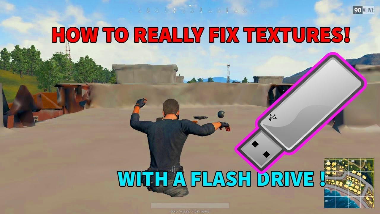 How To REALY Fix PUBG Texture Bug With A Flash Drive! I