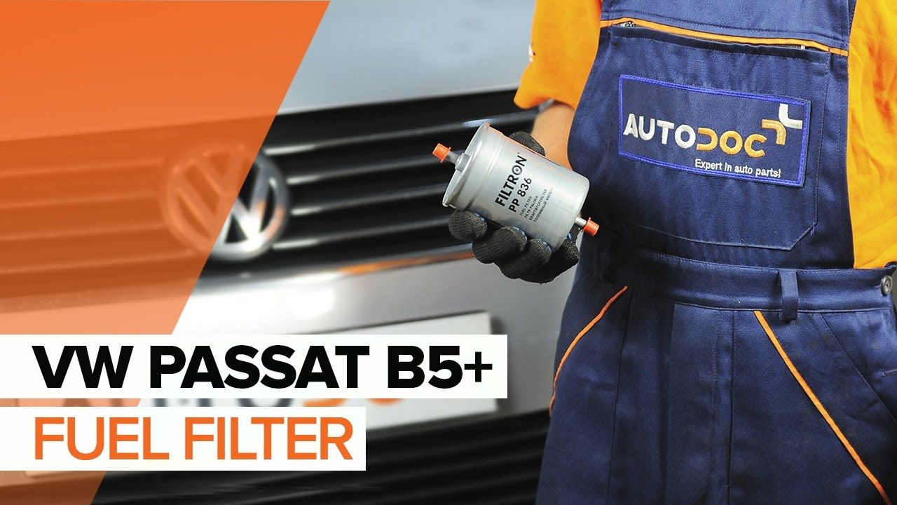 How To Replace Fuel Filter On Vw Passat B5 Tutorial Autodoc