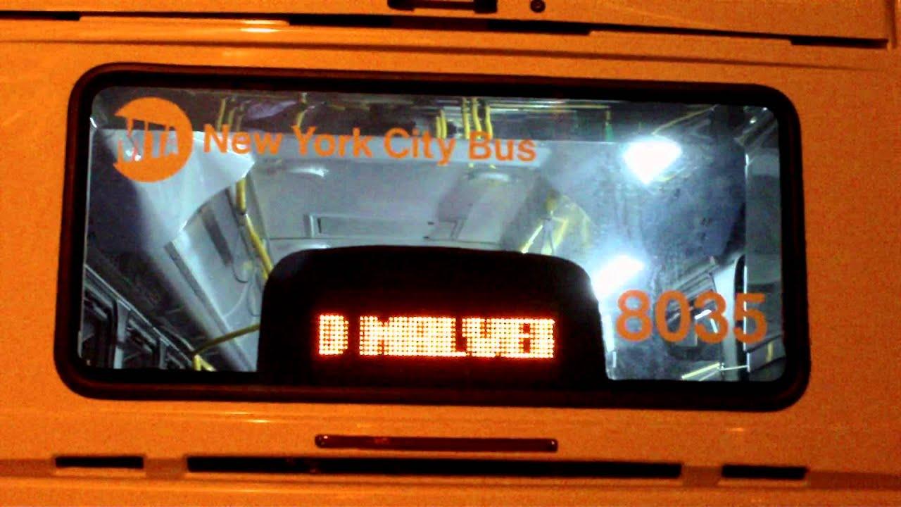 Mta Regional Bus Axion Led Sign On A Nova Bus Lfs Youtube