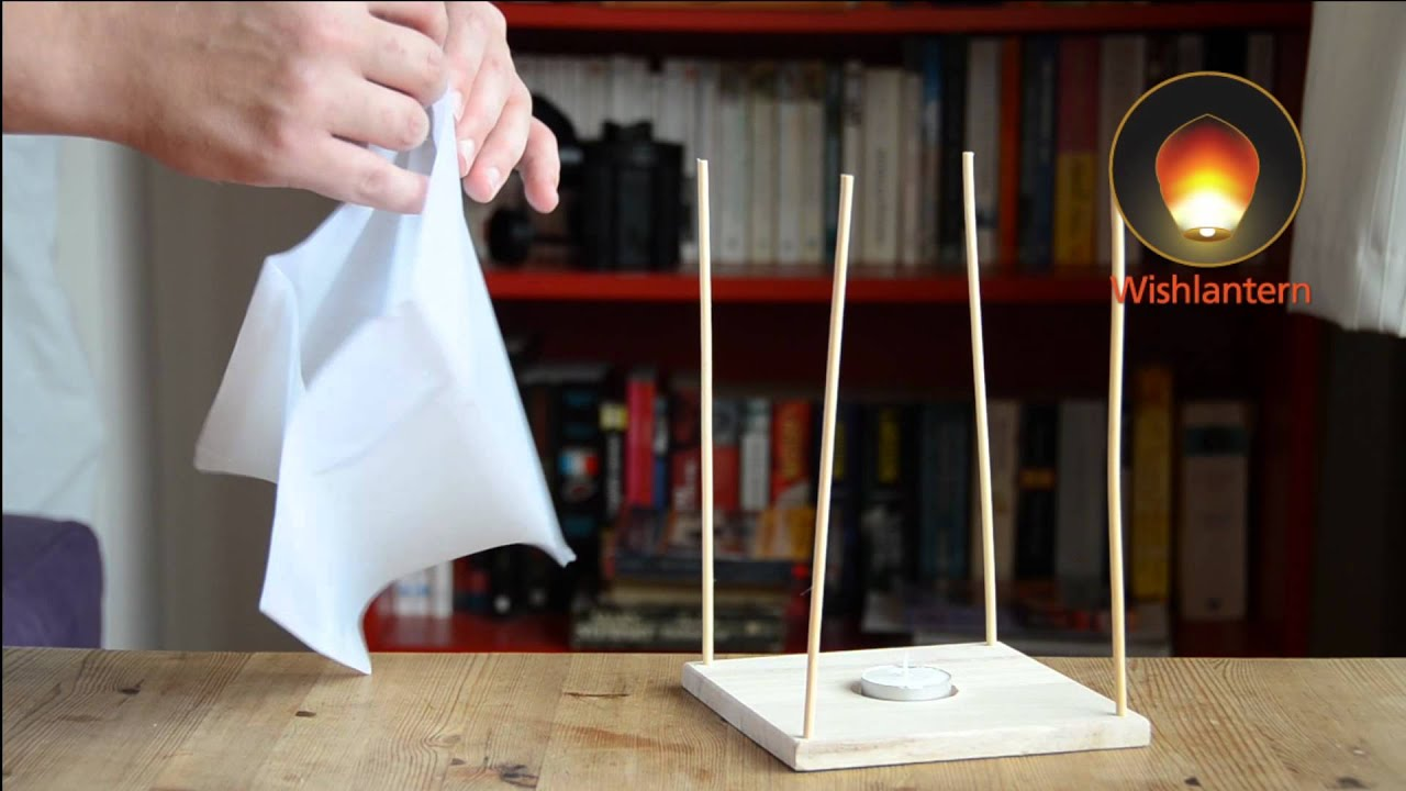 Floating water lanterns learn how to assemble for How to build a chinese lantern