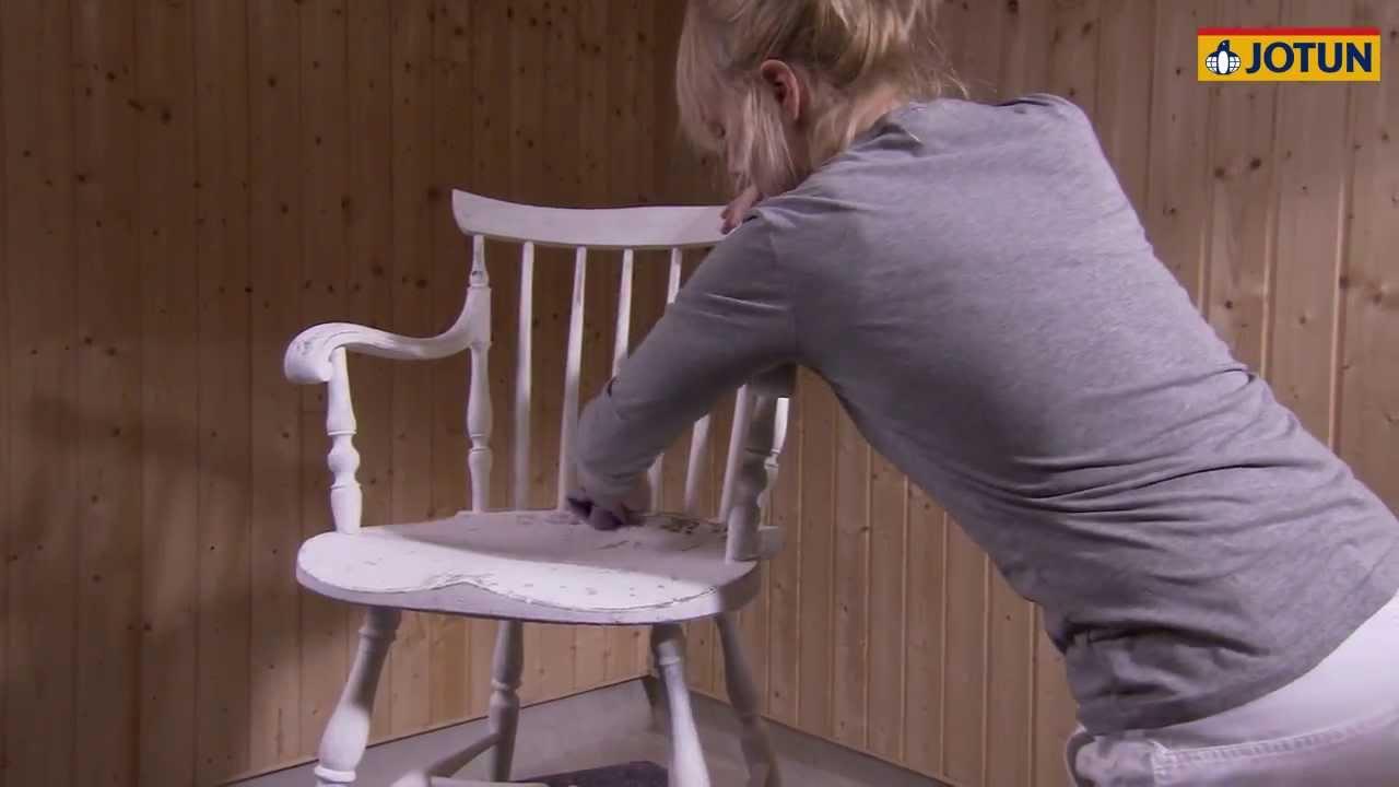 male møbler med spraymaling