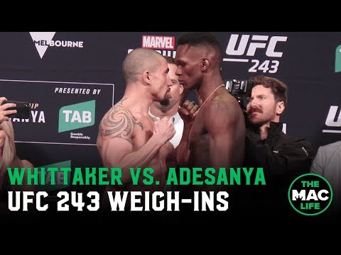 UFC 243 Official Weigh-Ins: Robert Whittaker vs. Israel Adesanya