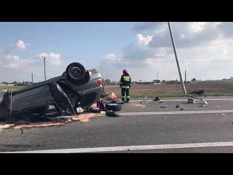 Tragiczny wypadek na obwodnicy Nowych Skalmierzyc ( trasa Kalisz - Ostrów Wielkopolski)