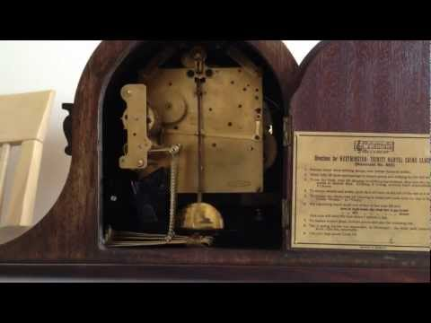 HAC DUAL CHIME MANTLE CLOCK - TRINITY FROM BACK