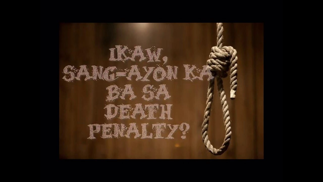 DEBATE TUNGKOL SA DEATH PENALTY