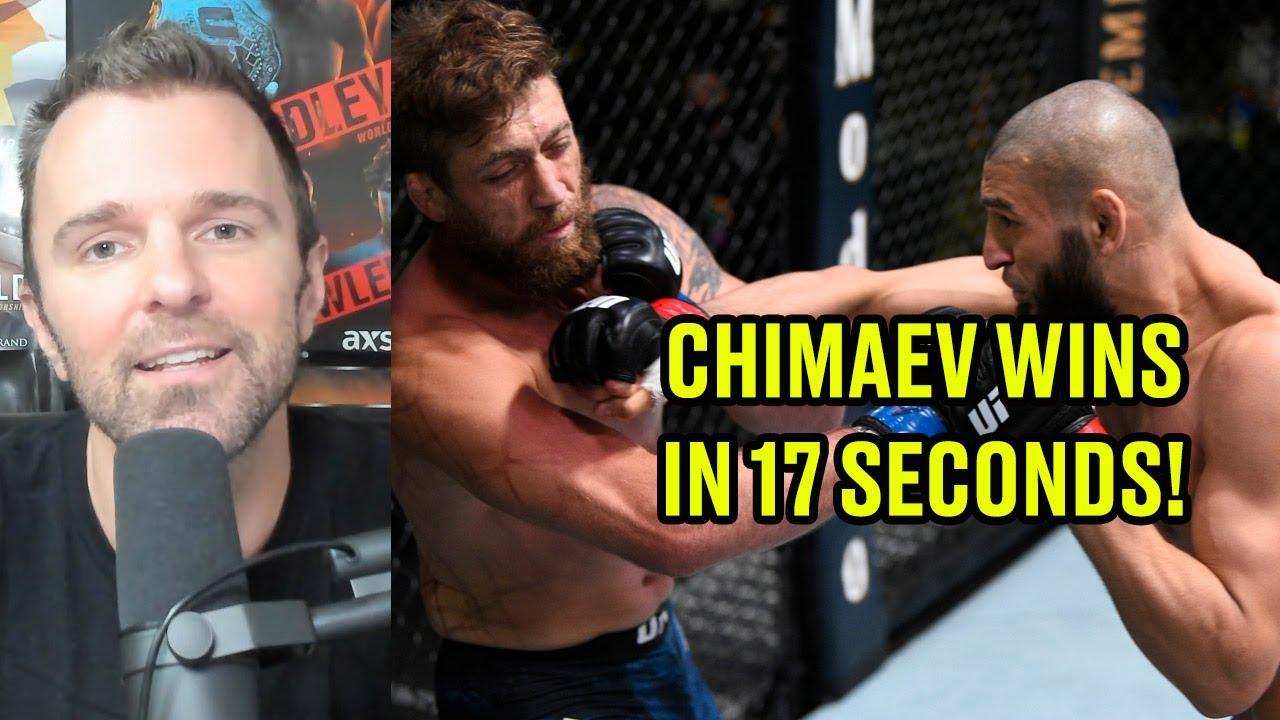 REACTION: Khamzat Chimaev wins in 17 seconds I UFC Vegas 11