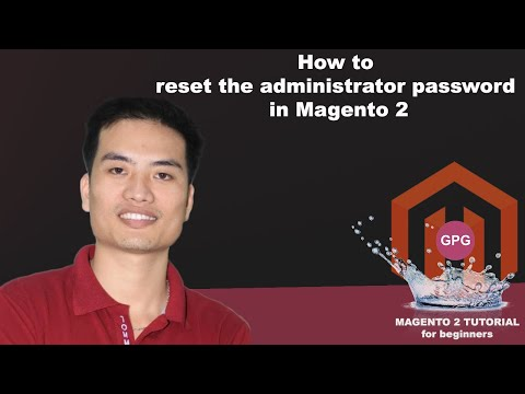 How to reset the administrator password in Magento 2