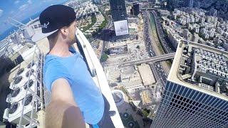 ROOFTOP PARKOUR in 187m | Tel Aviv - ISRAEL Tag 4