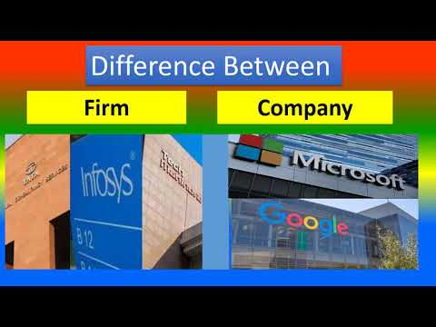 Difference Between Firm and Company