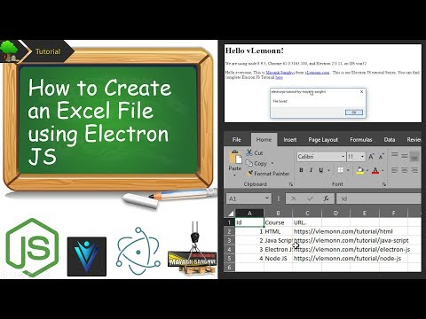 How To Create An Excel File Using Electron Js Node Js Youtube
