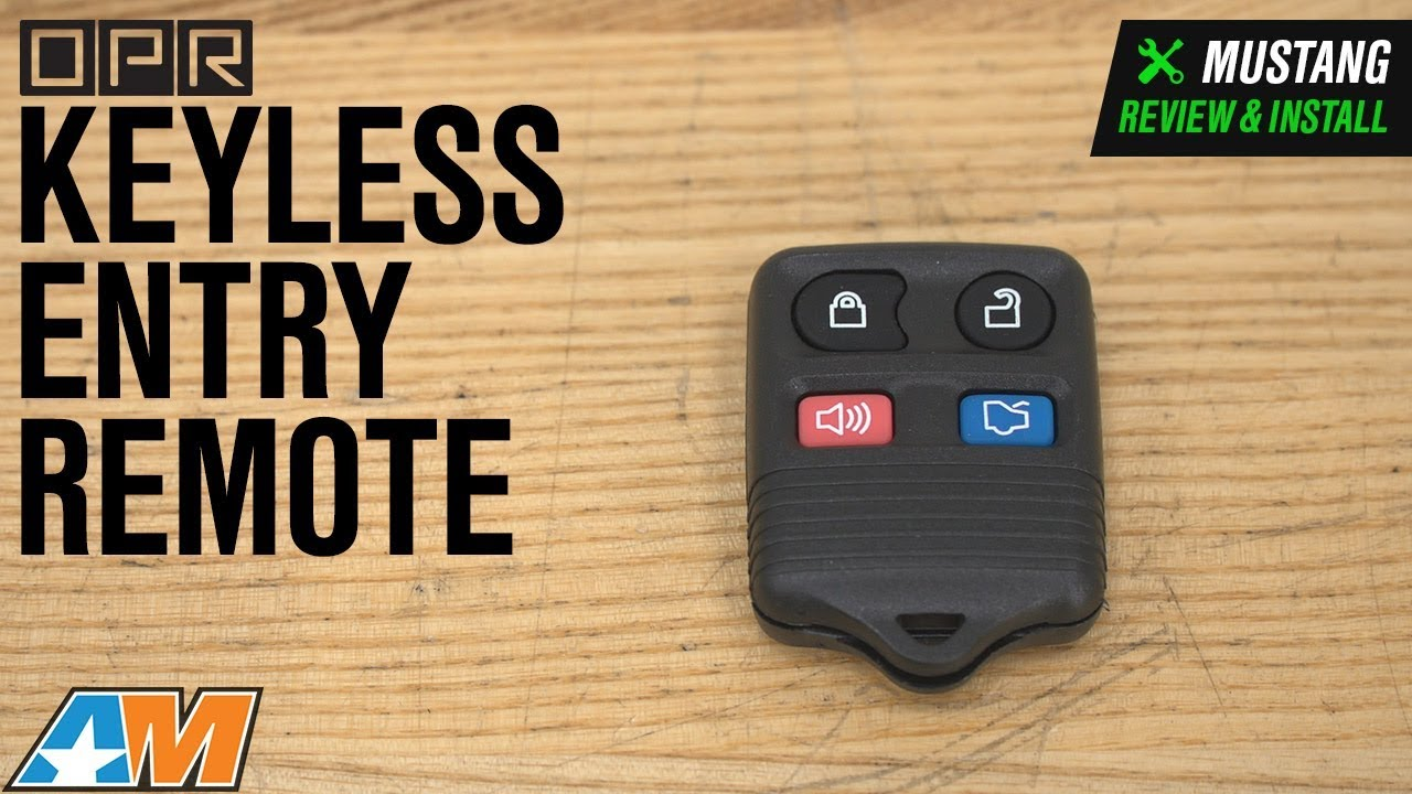 1999-2014 Ford Mustang Compatible Key Fob with DIY Instructions