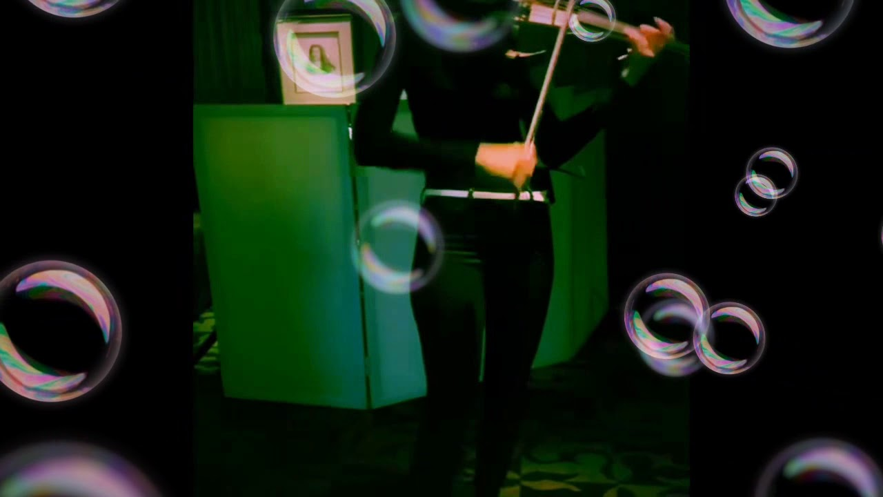 Electric violinist with DJ sample NY Music Entertainment