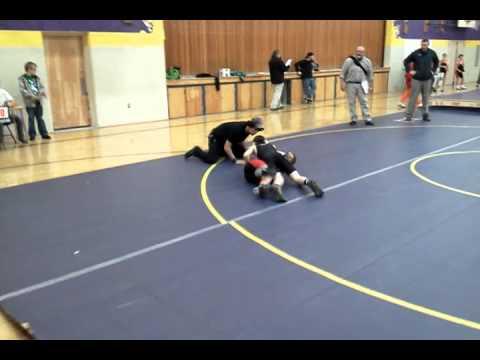 Wrestling- Wyatt Shelly wrestling for Post Falls Middle school in Kellogg #1