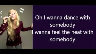 Glee - I wanna dance with somebody Lyrics