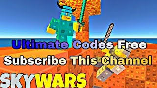 Roblox skywars 2018 latest Codes for 1000 coins and Ultimate Skins