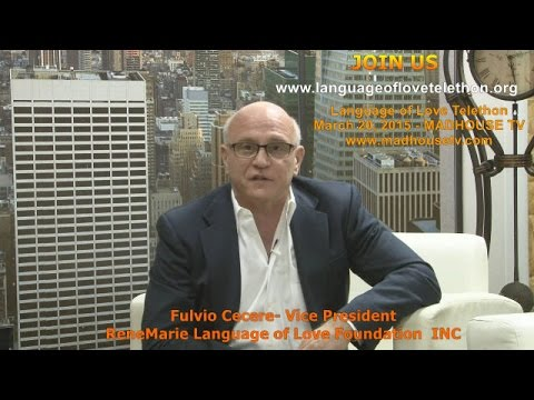 Telethon Announcement Fulvio Cecere Vice President Language of Love Foundation INC.