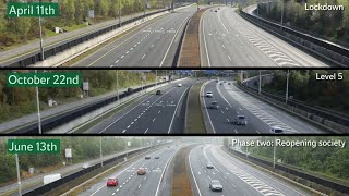 Timelapse: Dublin's M50 as Ireland enters first day of Level 5 restrictions