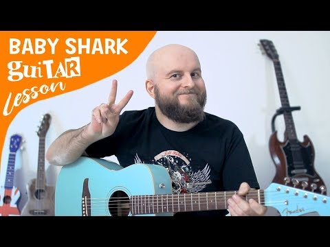 baby-shark-guitar-lesson-for-beginners-–-how-to-play-baby-shark-tutorial