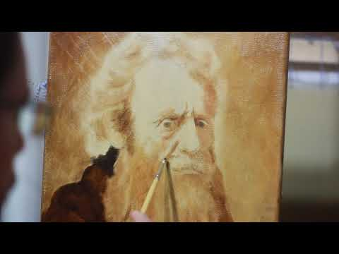 Painting a Rembrandt old man