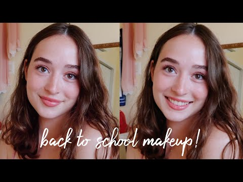 5 Minute Back to School Makeup Look! | simple & easy thumbnail