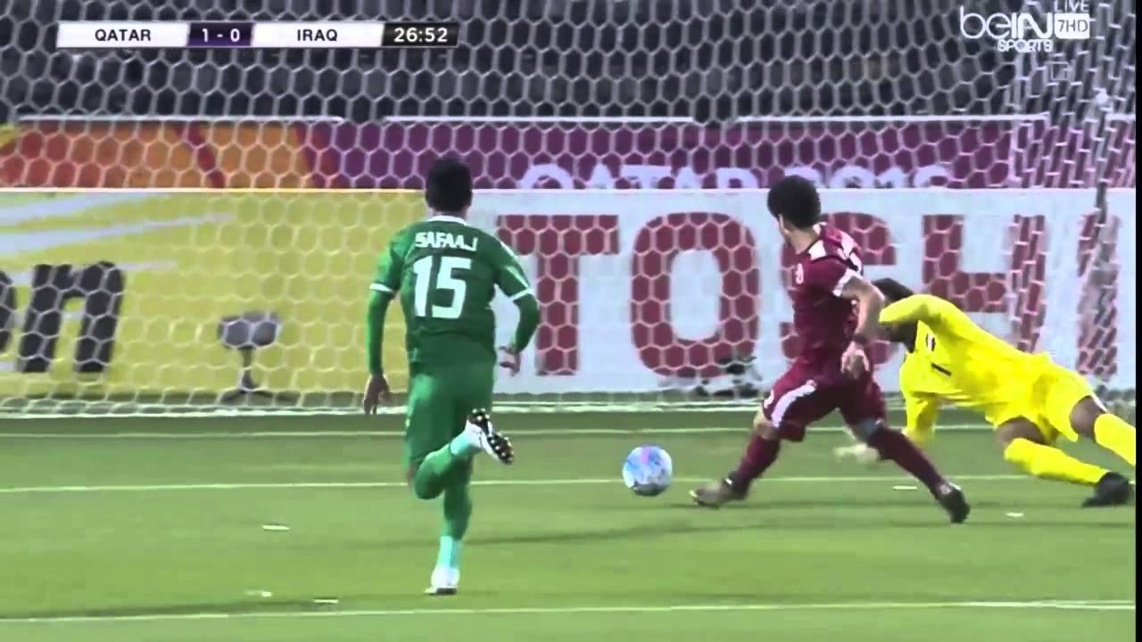 اهداف مباراة العراق الاولمبي  2-1 قطر الاولمبي   كاس اسيا تحت 23 سنه HD