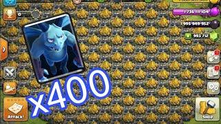 400 Max Minion Vs Infinity Gold Storage | Clash of clans Attack Strategy | COC | COC Private Server