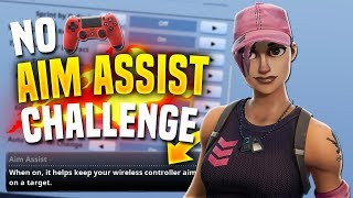 Playing Fortnite Console With No AIM ASSIST (PS4 Controller)