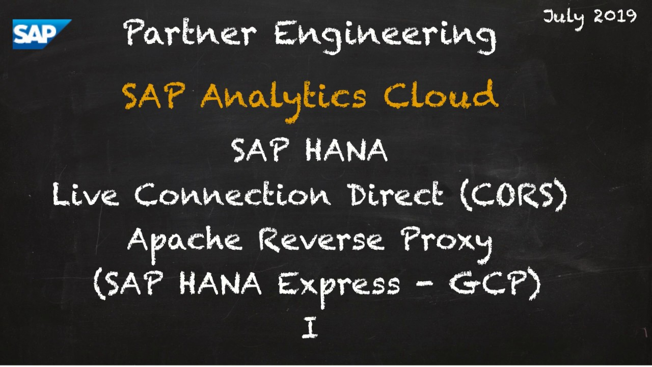 Apache HTTPS Reverse Proxy for SAP Analytics Cloud Live Connections