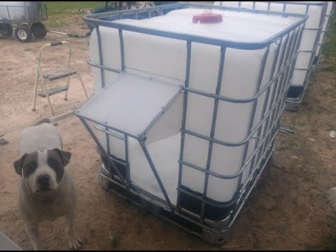 Ibc Tote Shelters For Alpine Goats Youtube