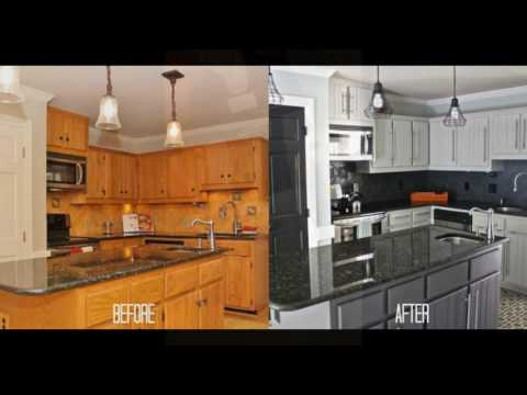 DIY How To Refinish Refinishing Wood Kitchen Cabinets Doovi