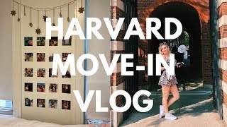 COLLEGE MOVE-IN VLOG! Freshman Year at Harvard University