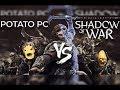 ¿Jugar La Tierra Media: Sombras de Guerra en PC barato? - Potato PC Vs AAA