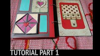 Valentine/Birthday/anniversary Scrapbook || Tutorial Part 1 ||  Crafts and Crunch