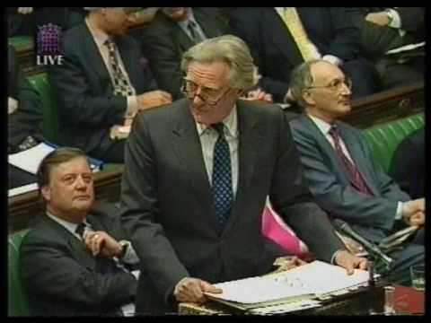 Michael Heseltine and John Prescott in Paliament in 1996