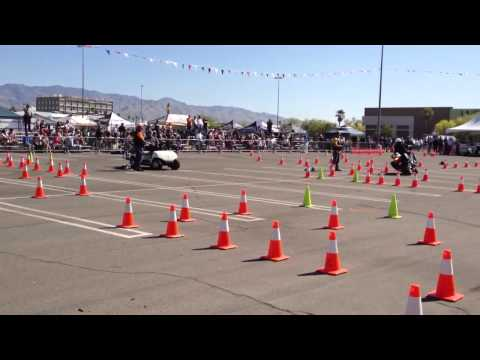 Quinn Redeker at Police Motorcycle Competition in Tucson AZ