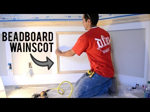 Adding Beadboard to Recessed Wainscot