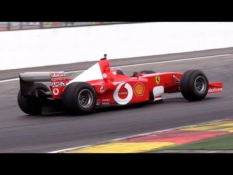 $7.5 Million Ferrari F1 F2001 V10 Ex M. Schumacher - INSANE V10 ENGINE SOUNDS!!