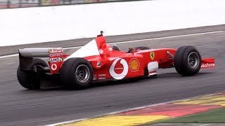 $7.5 Million Ferrari F1 F2001 V10 Ex M. Schumacher - INSANE V10 ENGINE SOUNDS!!