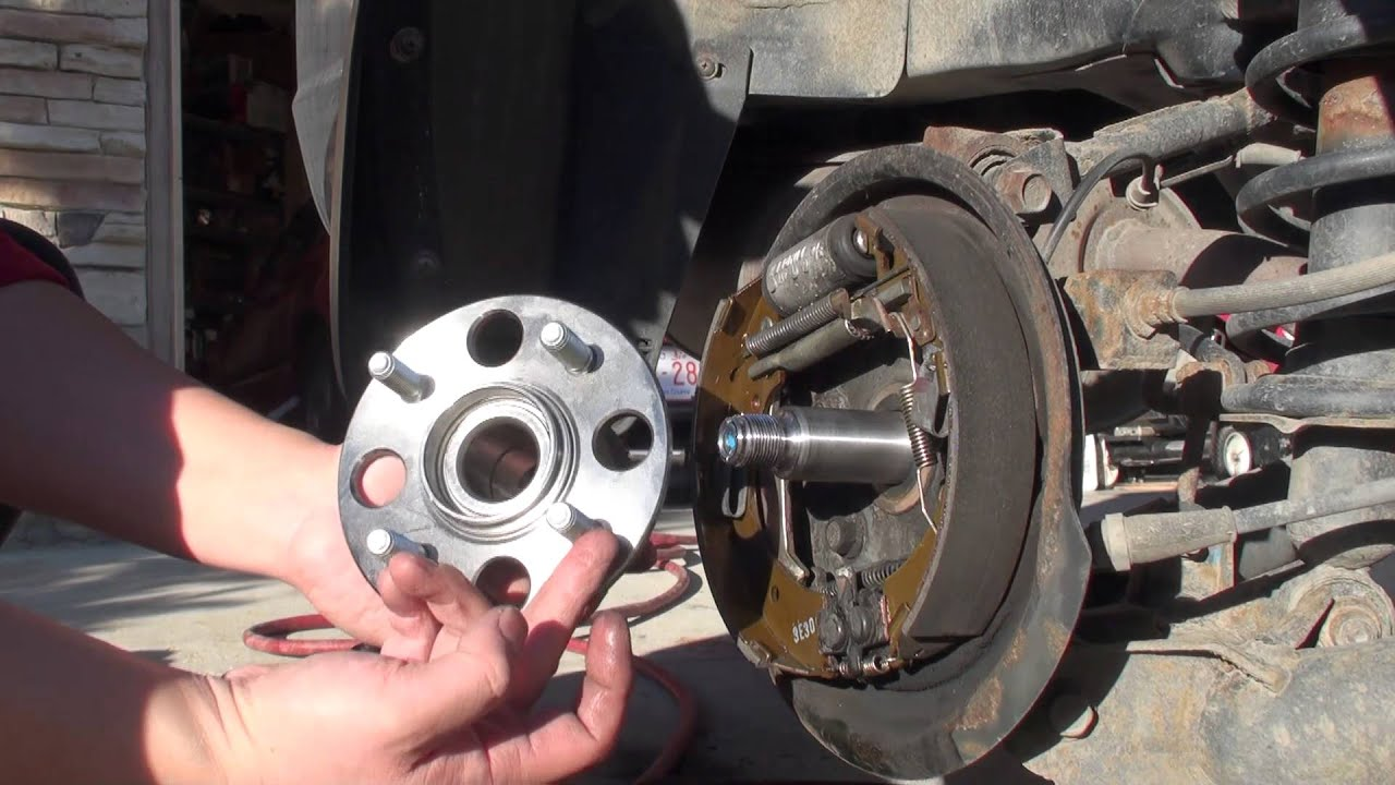 How to diagnose and replace 2001 2005 honda civic rear wheel bearings youtube