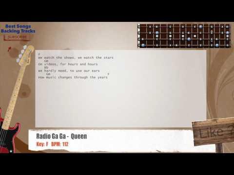 Radio Ga Ga -  Queen Bass Backing Track with chords and lyrics