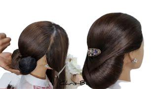 Bridal Updo Tutorials. Low Chignon Hairstyle