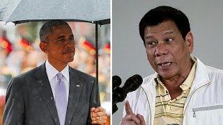 فيديو.. رئيس الفلبين يتأسف لأوباما
