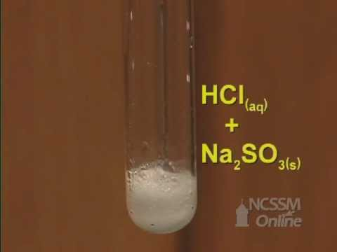 Double Displacement Sodium Sulfite and HCl - YouTube